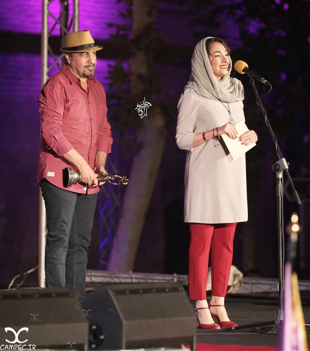 هانیه توسلی و رضا عطاران در هجدهمين جشن خانه سینما