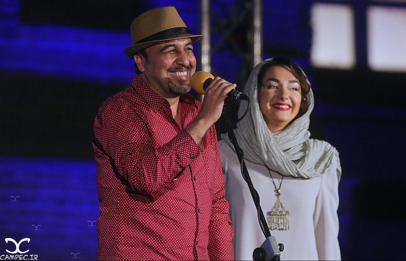 هانیه توسلی و رضا عطاران در هجدهمین جشن خانه سینما