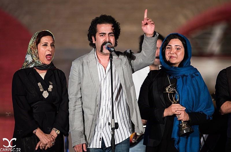 باران کوثری در هجدهمین جشن خانه سینما