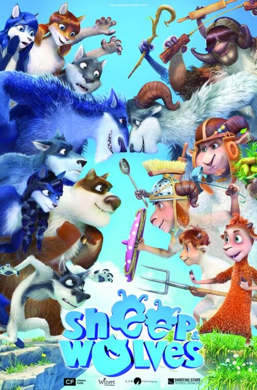 دانلود انیمیشن دوبله فارسی گوسفند ها و گرگ ها Sheep & Wolves 2016