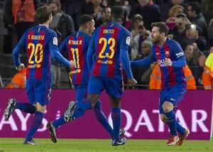 نتیجه بازی بارسلونا و رئال سوسیداد 30 دی 95 فیلم خلاصه و گلها