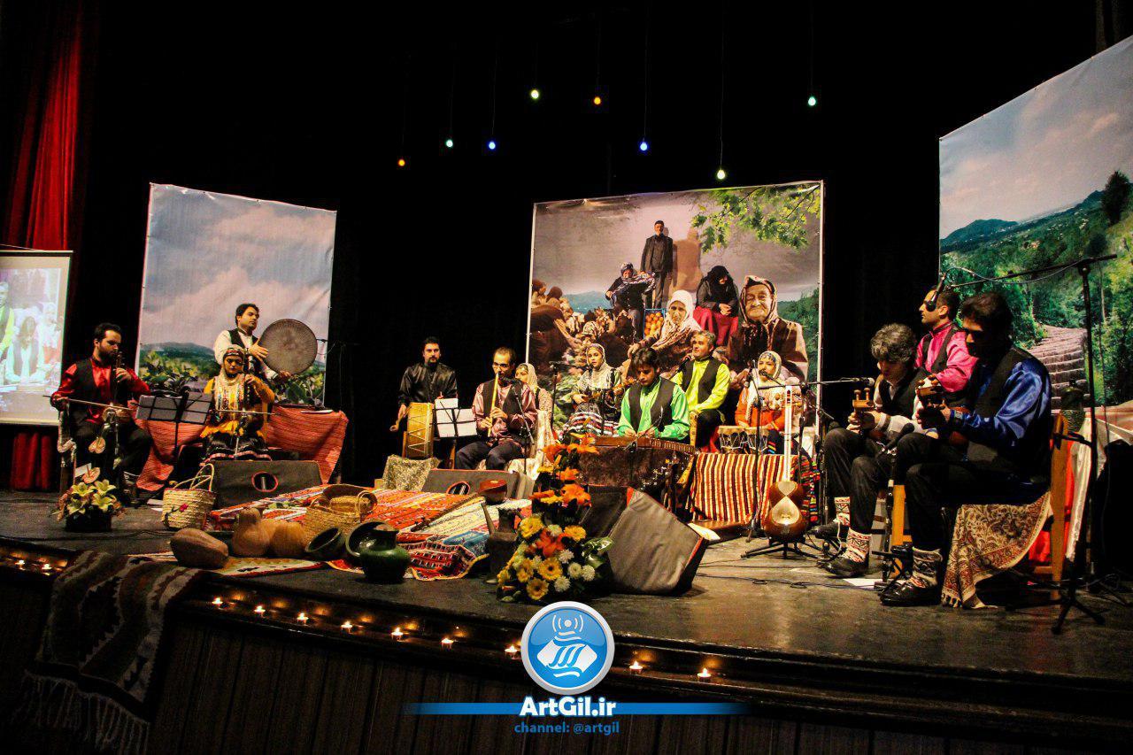 کنسرت موسیقی گیلکی  گروه کوبار در رشت برگزار شد