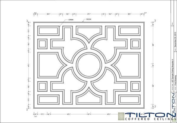 نقشه کناف کلاسیک سقف