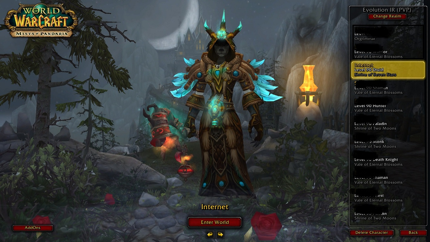 فروش هیرو Druid - internet - سرور WowZone