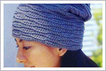 مدل کلاه قلاب بافی زنانه