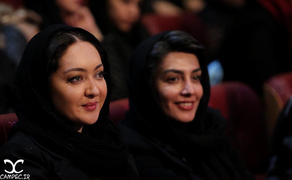 نیکی کریمی و لیلا زارع در افتتاحیه جشنواره 35 فیلم فجر