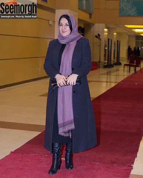 ستاره اسکندری در افتتاحیه سی و پنجمین جشنواره فیلم فجر