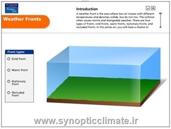 دانلود انیمیشن هواشناسی تشکیل جبهه های هوا