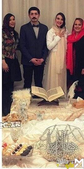 عکس مراسم ازدواج حدیث میر امینی