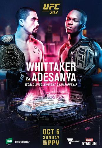 نتایج رویداد :  UFC 243 :Whittaker vs.Adesanya