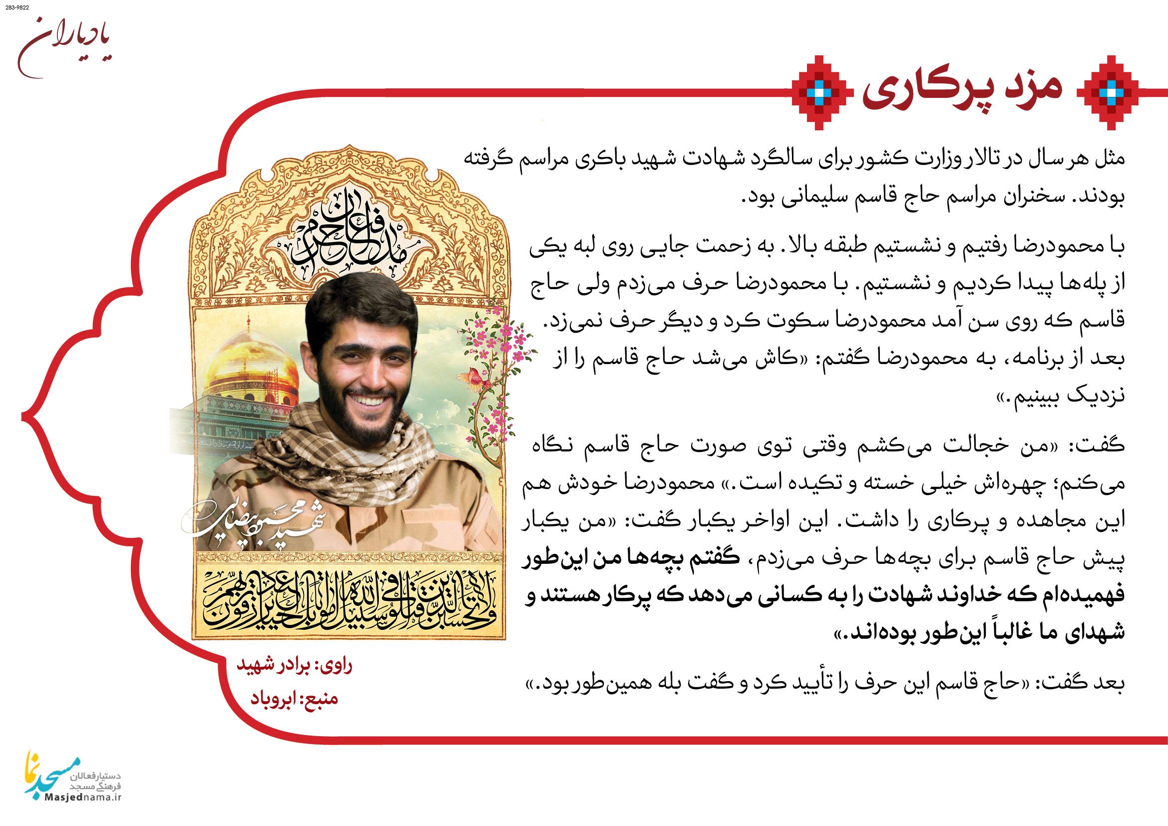 شهید مدافع حرم محمودرضا بیضایی