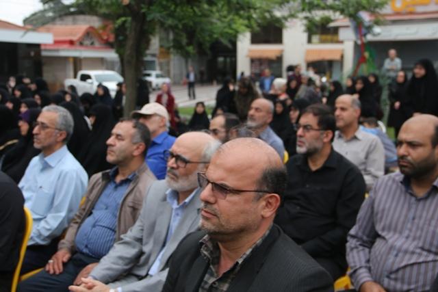 برگزاری یادواره شهدای گمنام شهرستان لاهیجان در جوار حرم شهدای گمنام