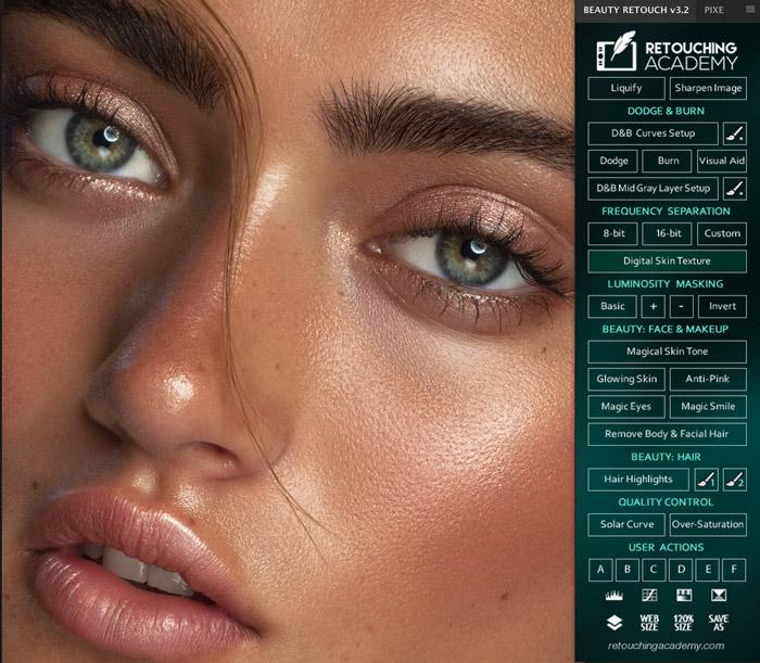 دانلود پنل رتوش حرفه ای عکس Beauty Retouch v3 Panel برای فتوشاپ