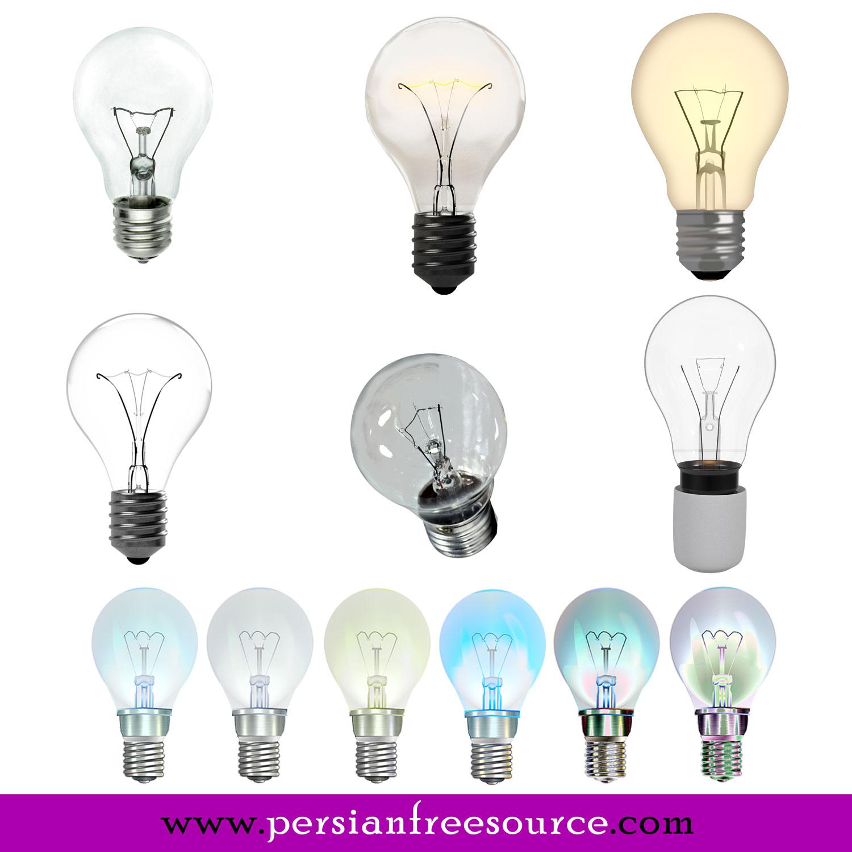 دانلود ۷ عکس لامپ با زمینه شفاف Light Bulb Transparent
