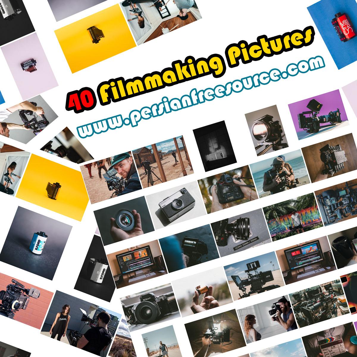 دانلود مجموعه ۴۰ عکس مربوط به فیلم سازی و دوربین  Filmmaking Pictures