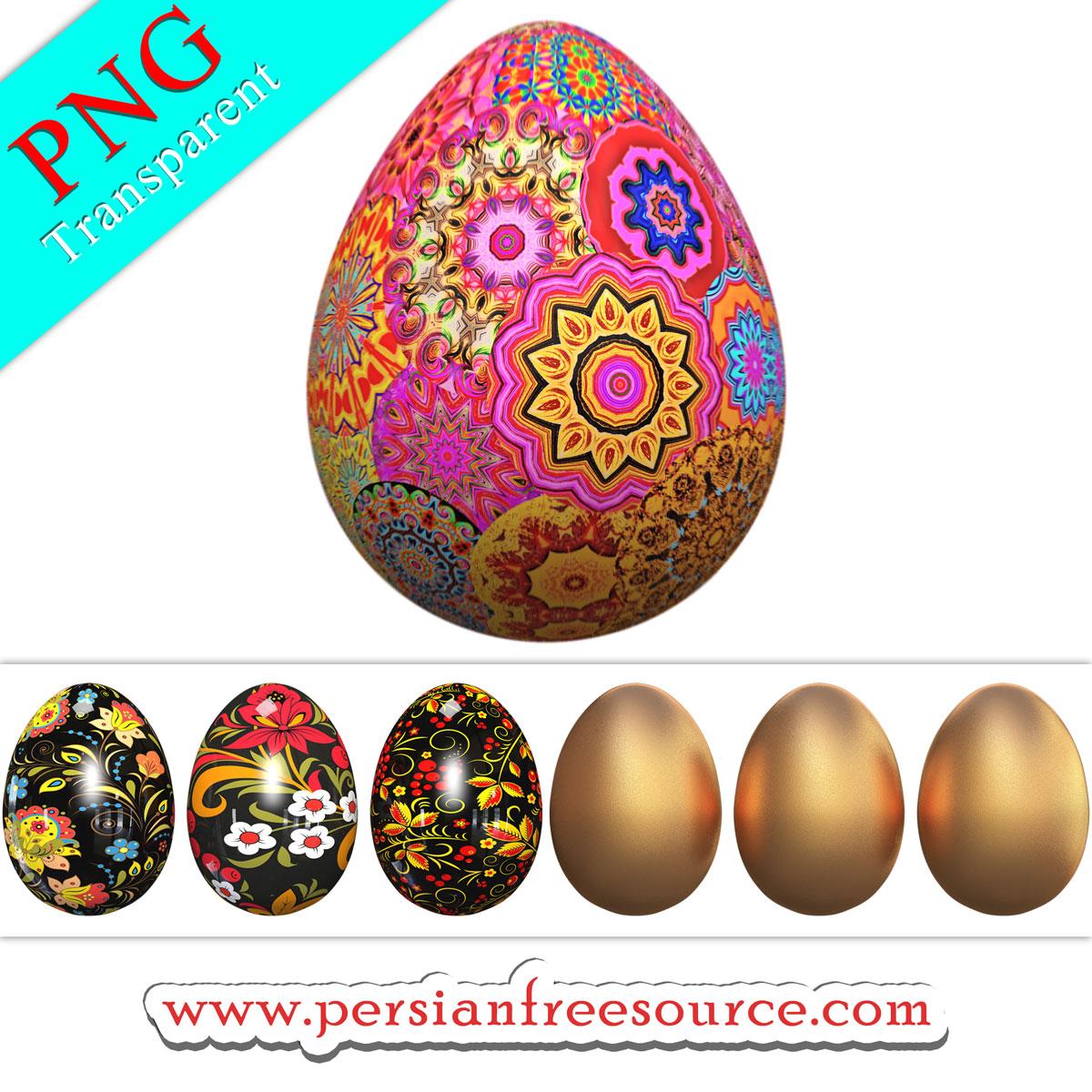 دانلود فایل لایه باز و باکیفیت تخم مرغ رنگی Easter Eggs