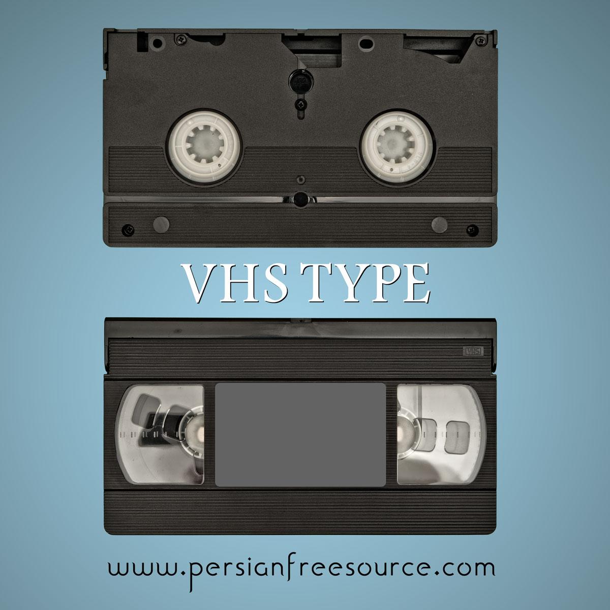 دانلود فایل لایه باز نوار ویدیو قدیمی VHS Type