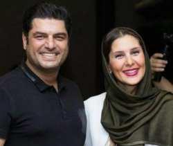 عکس دونفری سام درخشانی و همسر محترم با لبخند
