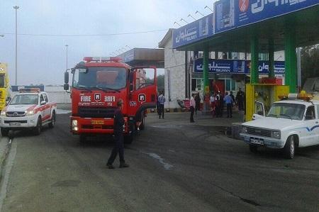 تمرین مهار آتش در جایگاه سوخت و ایستگاه گاز آستارا