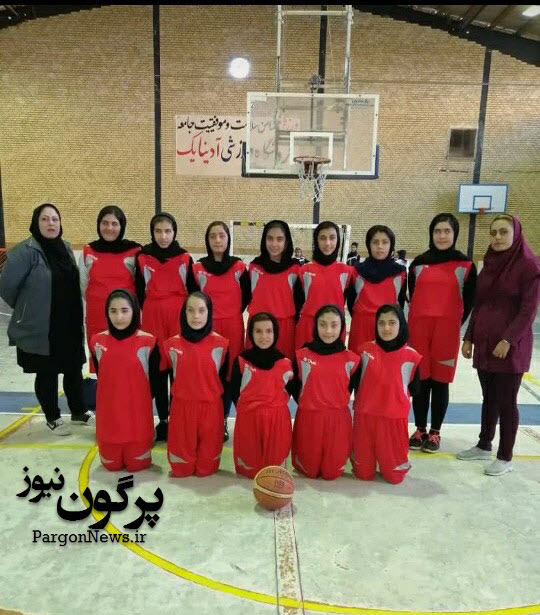 درخشش تیم مینی بسکتبال دختران قیروکارزین در مسابقات استان فارس