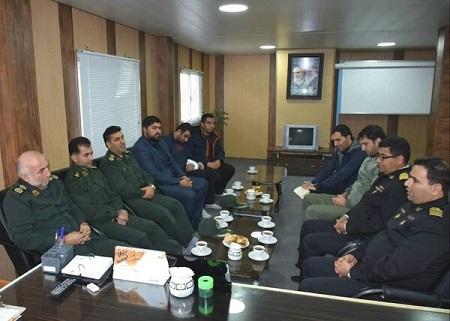حضور اعضای بسیج رسانه آستارا در پایگاه نیروی دریایی غرب خزر