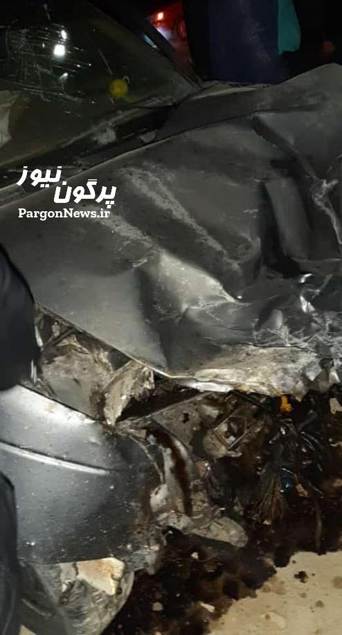 تصادف در محور روستایی بریخون-قلات شهرستان قیروکارزین