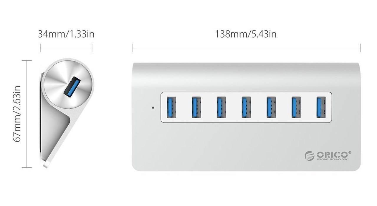 Orico M3H7-EU-SV USB 3.0 Hub orico m3h7-eu-sv usb 3.0 hub Orico M3H7-EU-SV USB 3.0 Hub Orico M3H7 EU SV USB 3 0 Hub