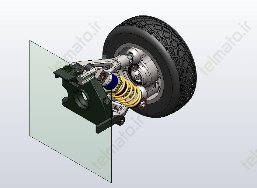 دانلود پروژه طراحی سیستم تعلیق خودرو در نرم افزار سالیدورک solidwork