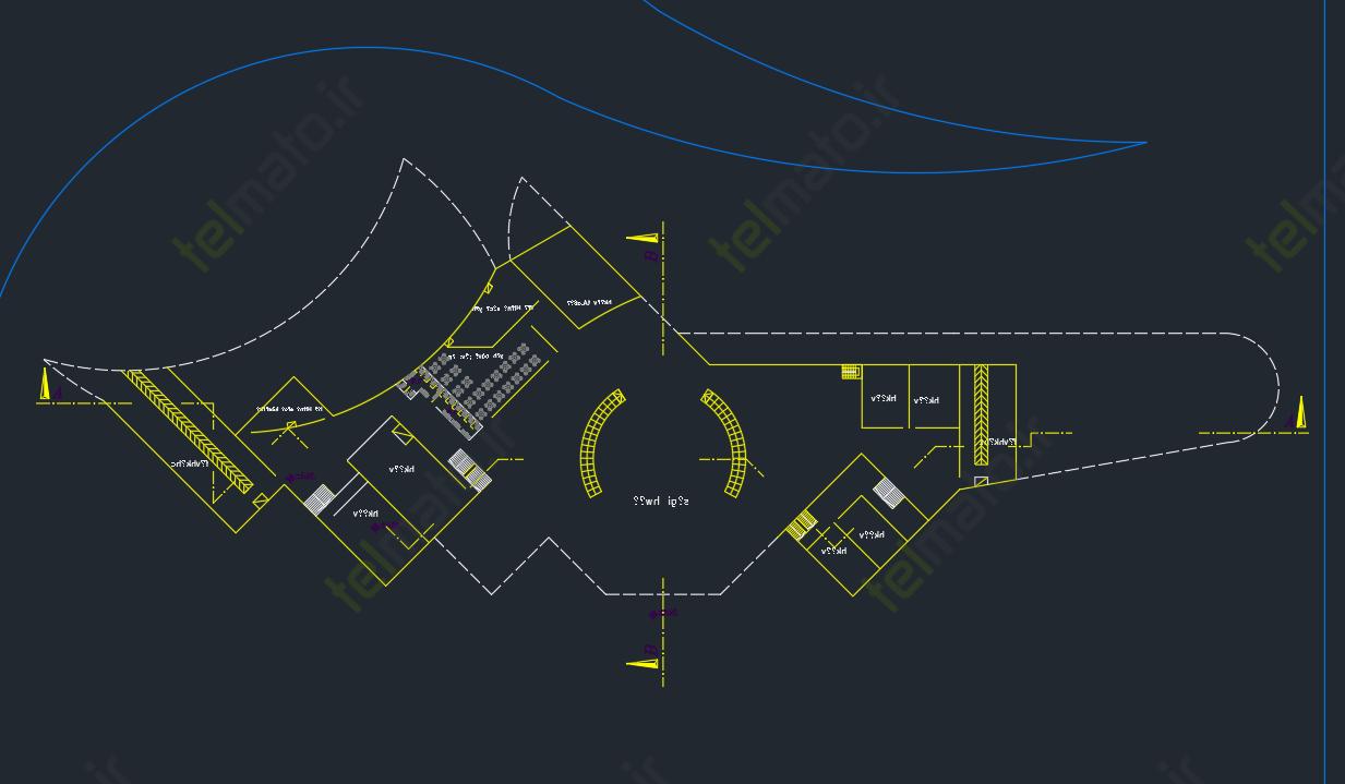 دانلود پلان آماده و نقشه طراحی شده فرودگاه در نرم افزار اتوکد autocad + فایل