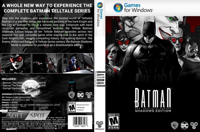 Telltale Batman Shadows Edition Cover