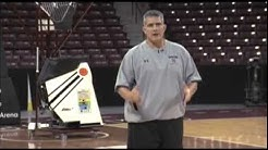 Frank Martin shows great shooting drill with defense using the Gun basketball shooting machine