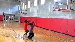 My kids working hard on basketball drills