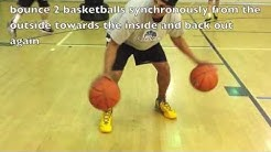 Kids Basketball Drills - Teaching Dribbling Technique - 5 Basketball Drills with 2 Balls