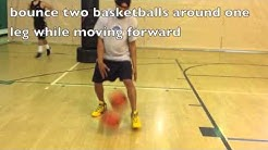 Kids Basketball Drills - Teaching Dribbling Technique with 2 Balls Advanced
