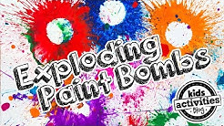 Paint Bombs - Exploding Art Activity for Kids