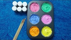 How To Make Frozen Paint For Kids Colors for Children to Learn Toddlers and Preschool