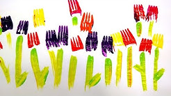 Painting With Forks - Easy Activity For Kids - Watch And Learn - Creative Ideas
