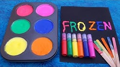 How To Make Frozen Paint For Kids Colors for Children to Learn Toddlers Baby and Kindergarten
