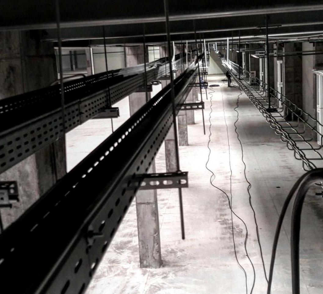 نصب ساپورت سینی کابل در کف و سقف تاسیسات
