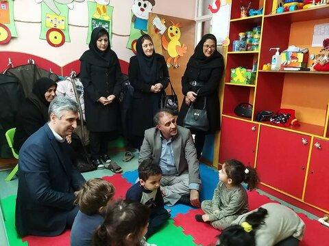 بازدید معاون مدیرکل کودکان و نوجوانان سازمان بهزیستی کشور از مهد های کودک رشت