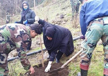 استقبال از هفته منابع طبیعی با کاشت ۴۰۰ اصله نهال در آستارا