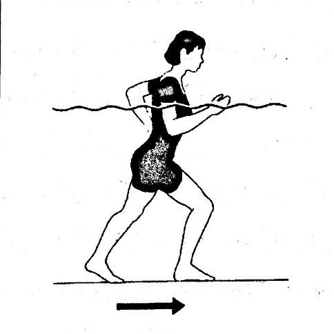 آب درمانی اندام تحتانی - ورزش در آب زانو - هیدروتراپی پا