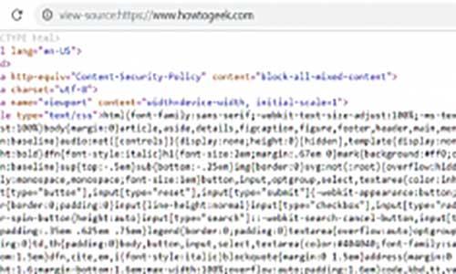 HTML Source Google Chrome