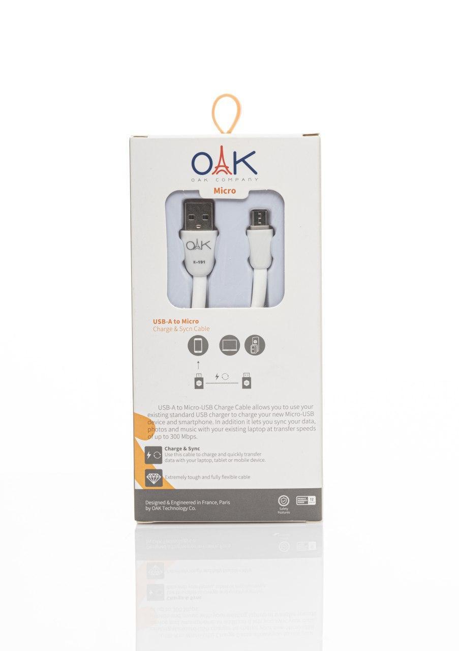 oak k191 microusb cable OAK K191 MicroUSB Cable OAK K191 Mircousb Cable Pic1