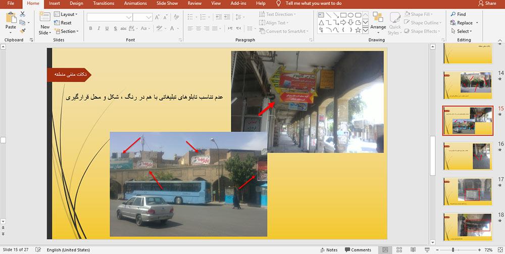 پروژه تحلیل فضاهای شهری